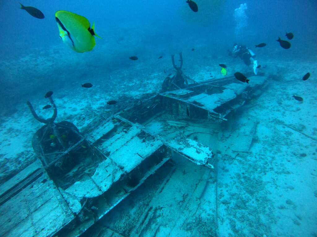7月8日 クラブ活動 〜 西オアフに沈む飛行機&マカハケーブでボートダイビング!